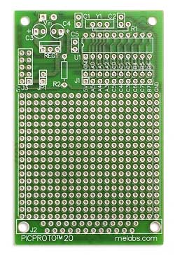 PICPROTO20 for 8, 14, and 20-pin PICmicro MCUs