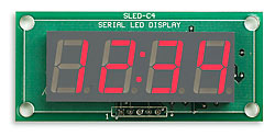 Serial 4-Digit LED Display Module - CLOCK
